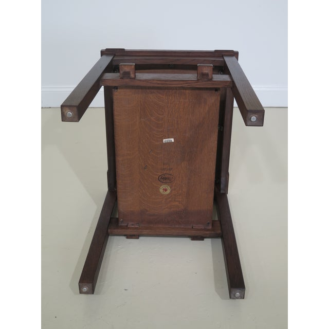 Brown Stickley Mission Oak Arts & Crafts Occasional End Table For Sale - Image 8 of 10
