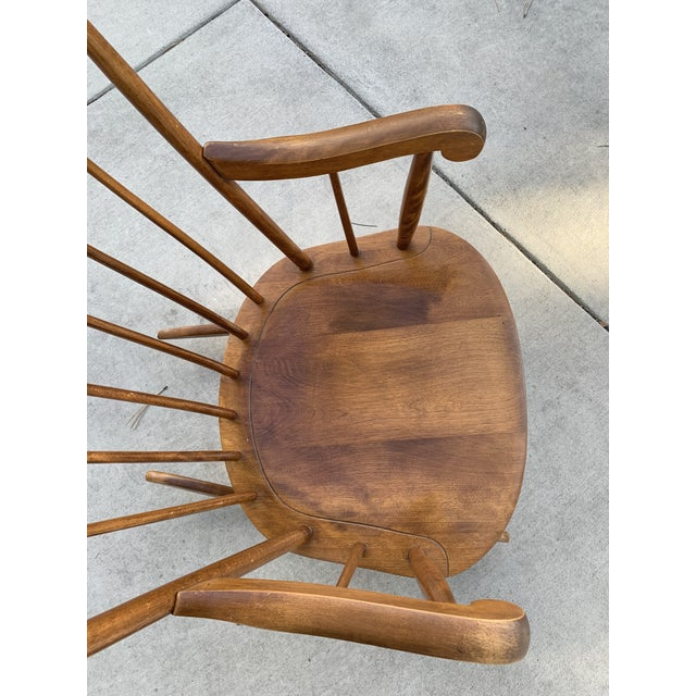 Vintage Nichols And Stone Maple Wooden Rocking Chair