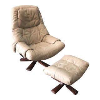 Ekornes Stressless Leather Chair and Ottoman