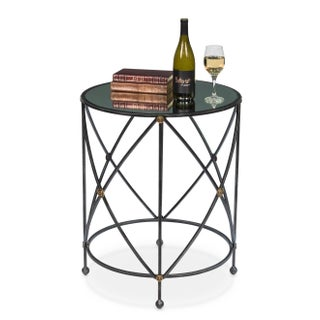 Drum & Fife Lamp Table W/Mirror Glass Tp Preview