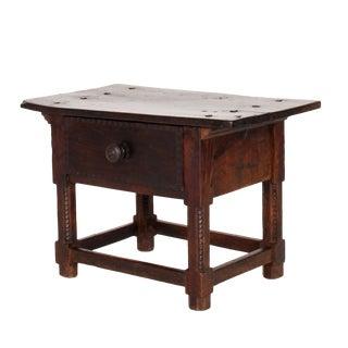 17th Century Italian Walnut Low Side Table For Sale