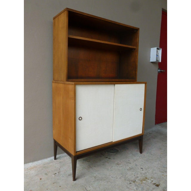 1950's Vintage Planner Group Paul McCobb Restored 2 Tier Cabinet For Sale - Image 9 of 9