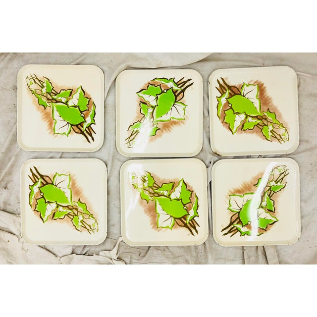 Vintage Set Metal Serving Trays For Sale In Raleigh - Image 6 of 8