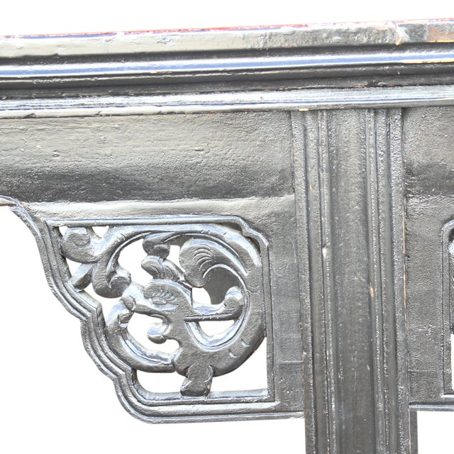 Antique Carved Asian Alter Table For Sale - Image 5 of 8
