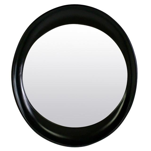 Modern Oval Framed Mirror - Image 1 of 7