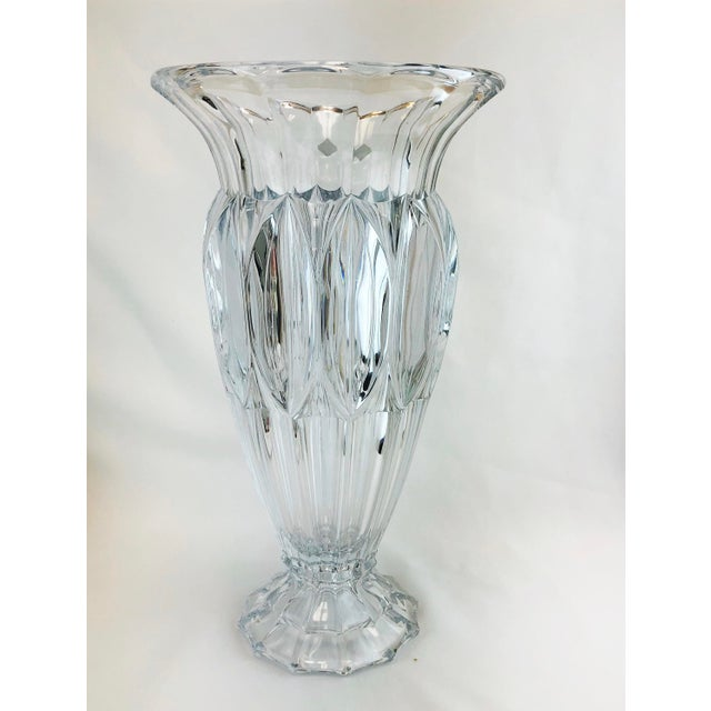 Shannon Crystal Fluted Vase For Sale - Image 10 of 10