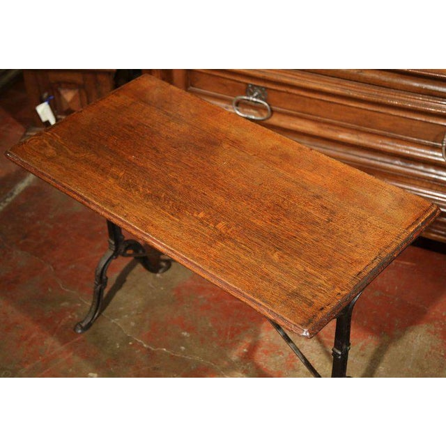 Late 19th Century French Iron & Wood Bistro Table - Image 4 of 6