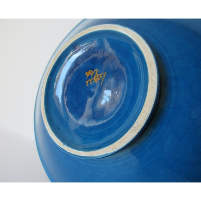 Vintage Mid-Century Aldo Londi for Bitossi Blue Ashtray, or Catchall Dish For Sale - Image 11 of 13