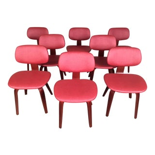 Thonet Eames Style Bentwood Mid-Century Modern Side Chairs - Set of 8