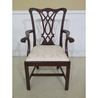 1990s Vintage Henkel Harris Model 107 Mahogany Dining Room Chairs- Set of 10 Preview