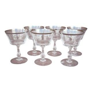 1970s Vintage Fostoria Crystal Glasses - Set of 6 For Sale