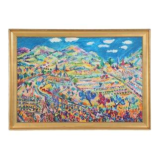 Original Roland David Acrylic Painting For Sale