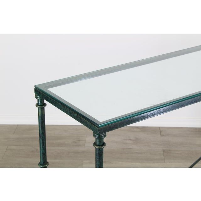Diego Giacometti Diego Giacometti Style Iron Console Table, Metal Console Table For Sale - Image 4 of 10