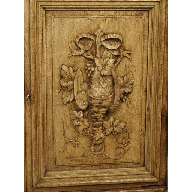 """Late 19th Century Richly Carved French Hunt Buffet """"St. Hubert"""" in Blonde Oak, Circa 1890 For Sale - Image 5 of 13"""