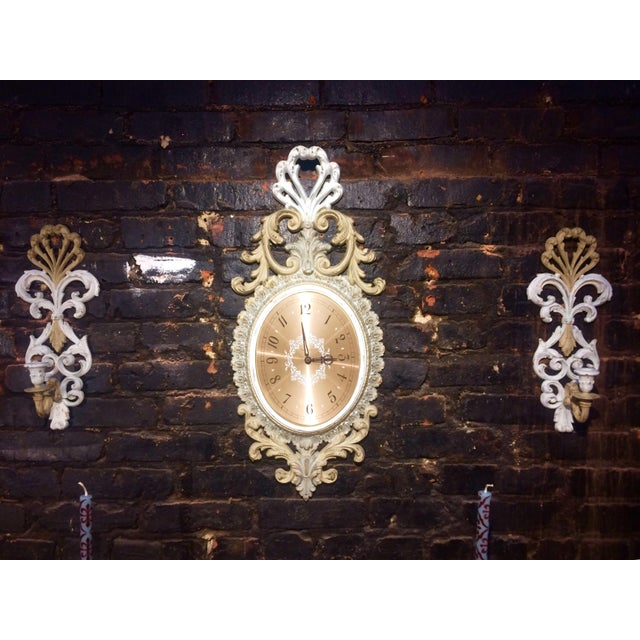 Wall Clock and Candle Sconces - Set of 3 - Image 2 of 7