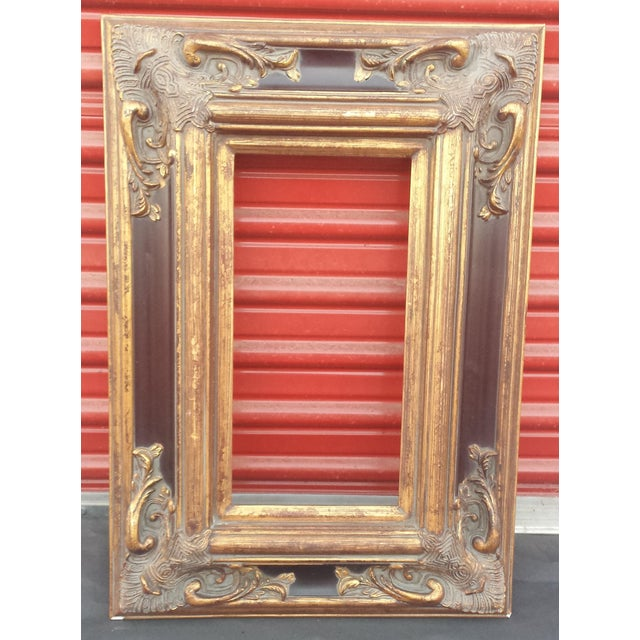 Beautiful on your wall! So very unique Baroque frame with rich and elegant dark and gold finish, perfect for a special...