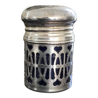 1950s English Silverplate Pepper Shaker, Hearts For Sale