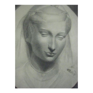 New Objectivity' Drawing, Woman with Veil by Beeldens