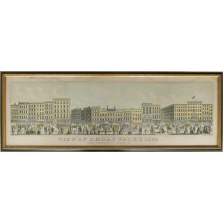 """""""View of Broadway, N.Y. 1853"""" Engraving by J. Wade and H. Bricher For Sale"""