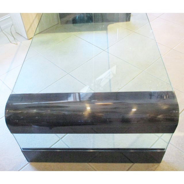Pace Collection 1970s Pace Collection Waterfall Coffee Table by Leon Rosen For Sale - Image 4 of 8