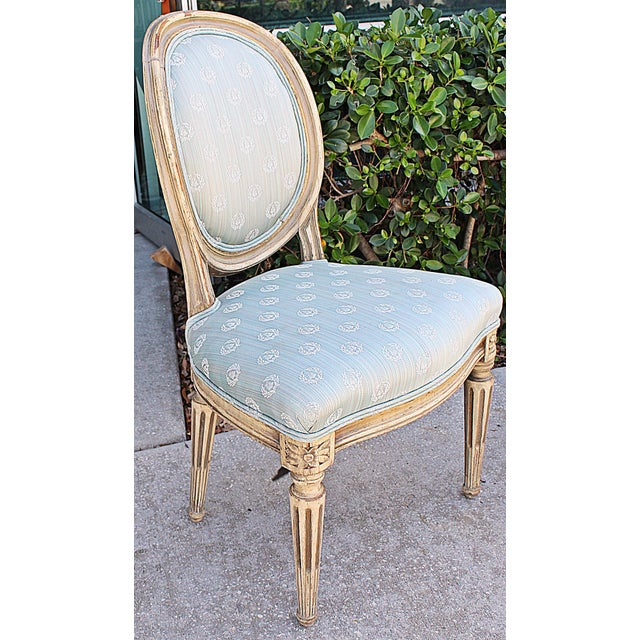 Antique Petite Louis-XVI Type French Chairs - a Pair For Sale In West Palm - Image 6 of 9