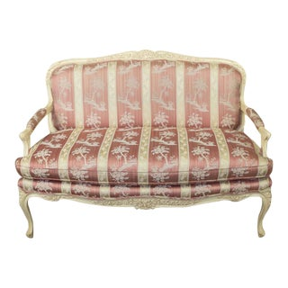 Louis XV Style Settee With Painted Finish For Sale
