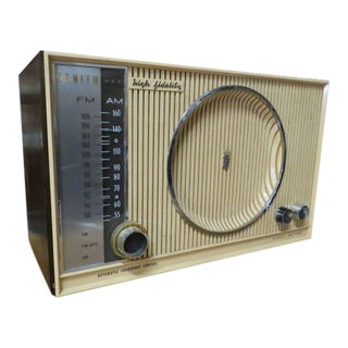1950 Vintage Mid-Century Modern Zenith Am/Fm Radio For Sale