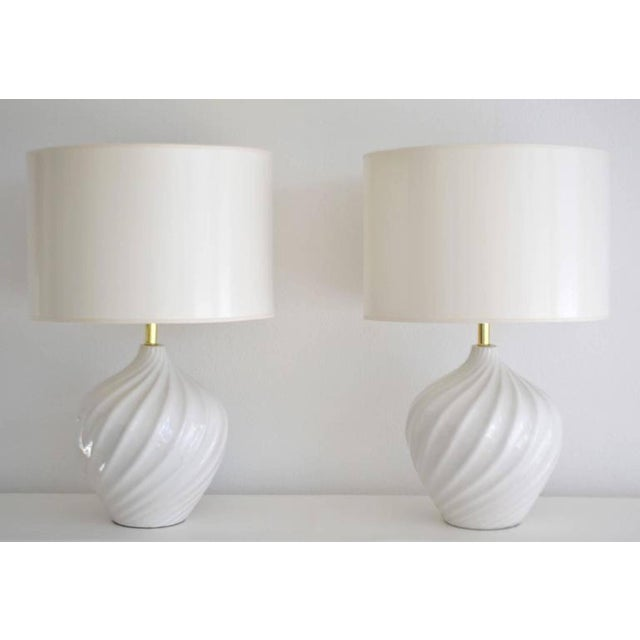 Pair of Blanc De Chine Jar Form Table Lamps For Sale - Image 9 of 10