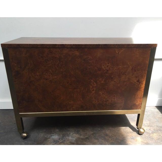 Tomlinson Tomlinson Burl Wood Bar Cart For Sale - Image 4 of 13