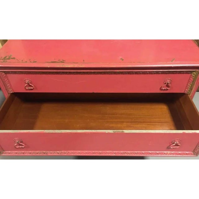 Berkey and Gay Pink Chest of Drawers, Dresser, Signed For Sale In New York - Image 6 of 10