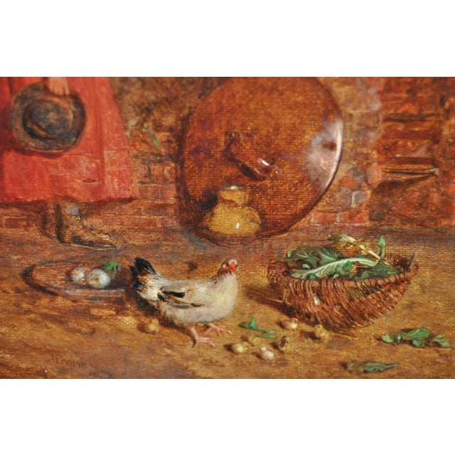 """Alfred Provis """"Young Domestic"""" Original Oil Painting - Image 7 of 10"""