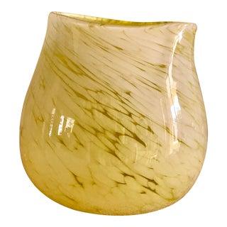 Citrus Yellow Artisan Studio Sculptural Glass Vase