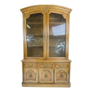 1960s Thomasville French Provincial China Cabinet For Sale