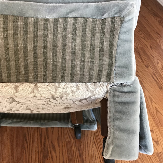 Green Mohair Club Chairs For Sale - Image 8 of 9