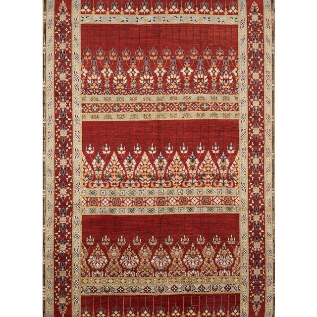 Silk Schumacher Meetra Area Rug in Hand-Knotted Wool Silk, Patterson Flynn Martin For Sale - Image 7 of 7