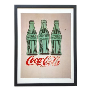 "Andy Warhol Foundation Rare Vintage 1998 Iconic Lithograph Print Framed Pop Art Poster "" Coca - Cola "" 1962 For Sale"