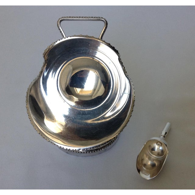 English Silver Plate Salt Cellar with Scoop For Sale - Image 10 of 11