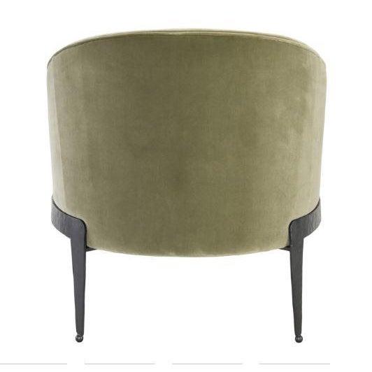 Kenneth Ludwig Chicago Kenneth Ludwig Chicago Aurelia Green Velvet Chair For Sale - Image 4 of 5