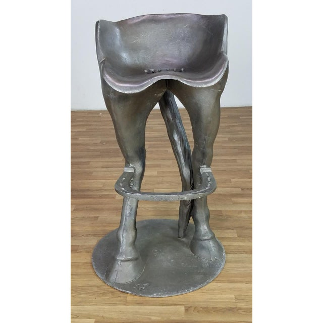Country 1990s Vintage Horse Bar Stools - A Pair For Sale - Image 3 of 13