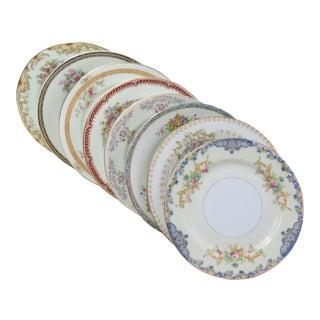 Vintage Mismatched Appetizer Plates, Set of 8 For Sale