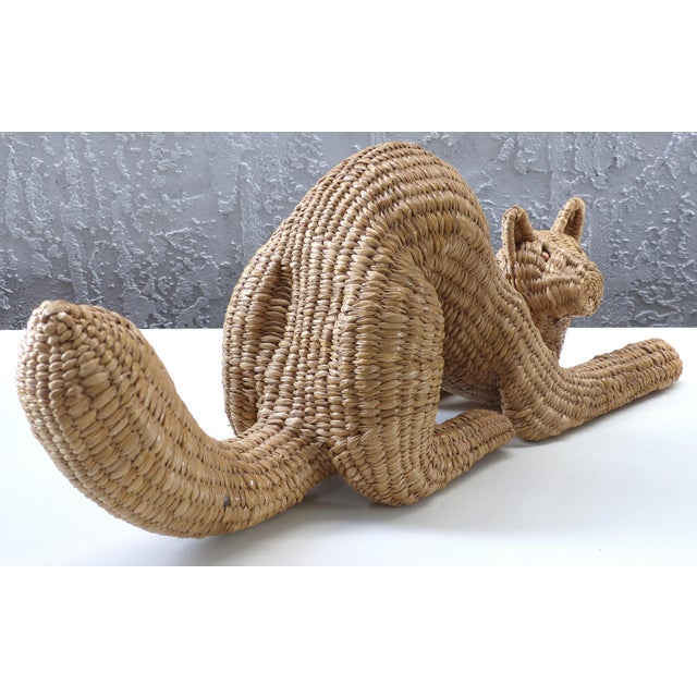 Mid-Century Modern Mid-century Cat Sculpture by Mario Lopez Torres (Mexico), signed & dated 1974 For Sale - Image 3 of 11