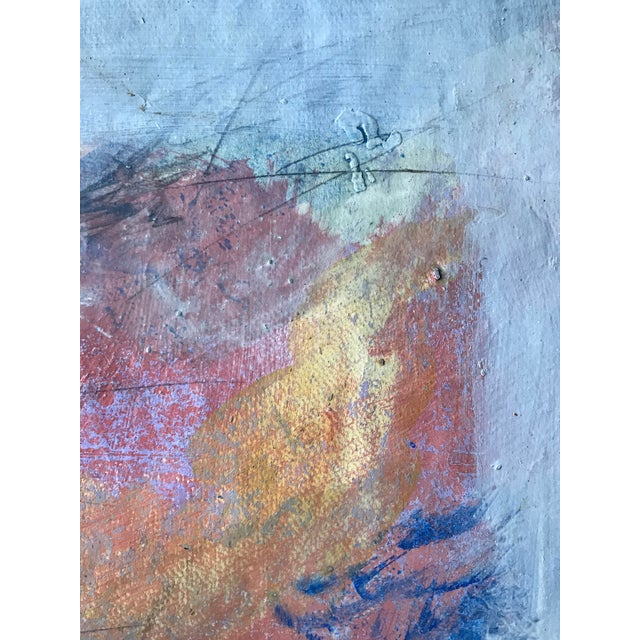 Abstract 1980s Abstract Bay Area Artist Pink and Purple Fade For Sale - Image 3 of 6