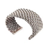 Image of Sterling Silver Criss Cross Briaded Cuff Bracelet For Sale
