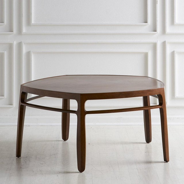 Wood Edward Wormley for Dunbar, Janus Coffee Table For Sale - Image 7 of 7