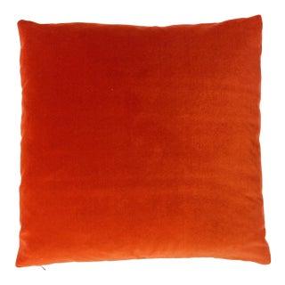 Burnt Orange Designers Guild Velvet Pillow For Sale