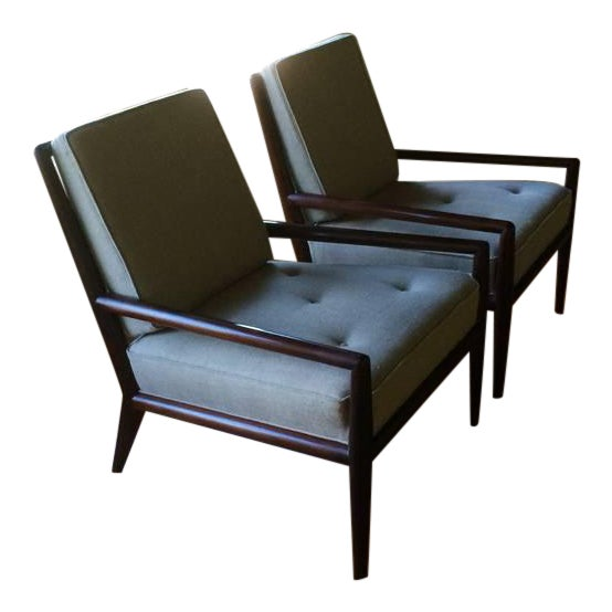 Pair of Classic T.H. Robsjohn-Gibbings Armchairs for Widdicomb For Sale