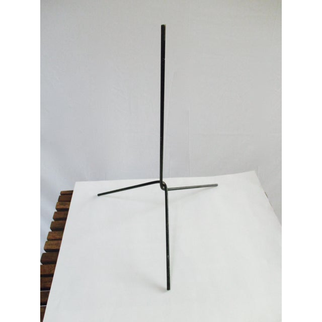 Metal Modernist Abstract Industrial Wire Mannequin Form on Stand For Sale - Image 7 of 11