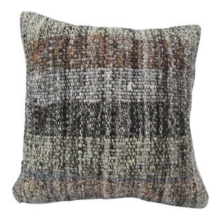 Vintage Handwoven Turkish Kilim Pillow Cover For Sale