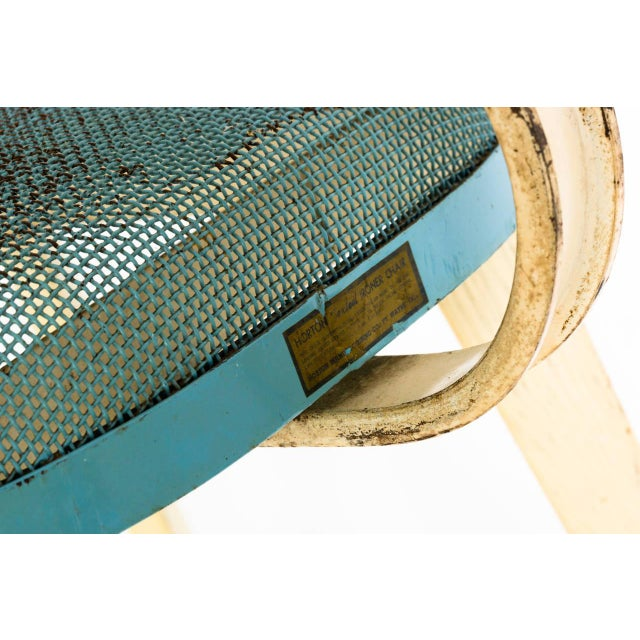 Metal Mesh Chair in the Manner of Jean Prouve For Sale - Image 10 of 11