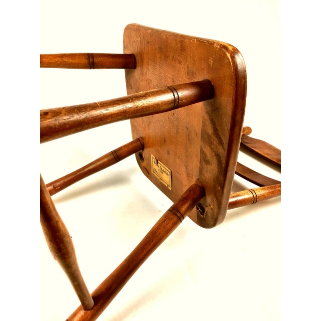 Early 18th Century Antique Myles Standish Line Wood Chair For Sale - Image 11 of 13